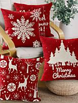 cheap -2pcs Nordic Printing Christmas Pillow Linen Hugging Pillowcase Sofa Car Cushion Cover Cotton Linen Hugging Pillowcase