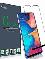 cheap -tempered glass for samsung galaxy a20 screen protector, [full glue][full cover] tempered glass case friendly protective film (black)