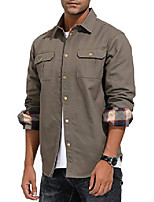 cheap -men's outdoor canvas jacket workshirt for hunting camping fishing s army green