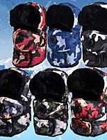 cheap -Men's Hiking Cap Beanie Hat 1 PCS Winter Outdoor Breathable Warm Soft Heat Retaining Neck Gaiter Neck Tube Skull Cap Beanie Patchwork Polyester Black Red Army Green for Hunting Ski / Snowboard Fishing