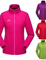 cheap -Women's Hiking Fleece Jacket Winter Outdoor Solid Color Thermal Warm Windproof Fleece Lining Breathable Winter Fleece Jacket Fleece Full Length Visible Zipper Fishing Traveling Winter Sports Purple