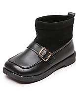 cheap -Girls' Boots Combat Boots PU Little Kids(4-7ys) Big Kids(7years +) Walking Shoes Black Brown Beige Fall Winter / Booties / Ankle Boots / Rubber