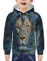 cheap -Kids Boys' Active 3D Animal Print Long Sleeve Hoodie & Sweatshirt Green