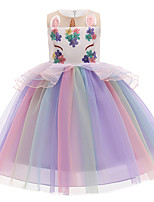 cheap -Unicorn Cosplay Costume Party Costume Girls' Movie Cosplay Beautiful Girl Euramerican Purple / Light Blue Dress Christmas Halloween Carnival Polyester / Cotton Polyester