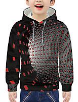 cheap -Kids Boys' Active 3D Graphic Print Long Sleeve Hoodie & Sweatshirt Blue