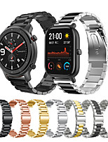 cheap -Metal Stainless Steel Watch Band for Huami Amazfit GTR 47mm / GTR 42mm / Stratos 3 / Stratos 2 2S / GTS 2 / Bip Lite / Pace 1 / Xiaomi Watch Color / Xiaomi Heylou Solar LS05 Bracelet Wrist Strap