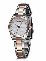 Недорогие -модные женские часы, женские часы из нержавеющей стали, водонепроницаемые, элегантные женские аналоговые часы с браслетом из розового золота