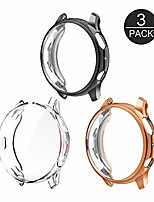 cheap -screen protector case for samsung galaxy watch active 2 (44mm), 3-pack soft tpu plated shock-proof protective bumper cover (black+rose gold+clear)