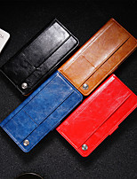 cheap -Case For OPPO oppo R17 / realme 5 Pro / realme Q Card Holder / Flip / Magnetic Full Body Cases Solid Colored PU Leather / TPU