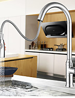 cheap -Kitchen Faucet-Single Handle One Hole Stainless Steel Pull-out / Pull-down Installation Surface-mounted Modern Kitchen Faucet