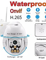 cheap -Outdoor Waterproof Wireless Wifi Security Camera 360 Rotation Ball Machine Network Surveillance 1080P PTZ IP Camera White