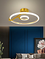 cheap -1 Head / 2 Heads LED Ceiling Light Round Shape Nordic Modern Simple Gold Black Bedroom Living Room Office