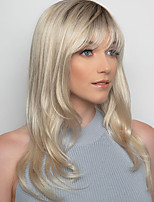 cheap -Synthetic Wig kinky Straight With Bangs Wig Medium Length Blonde Synthetic Hair 14 inch Women's Fashionable Design Exquisite Comfy Blonde