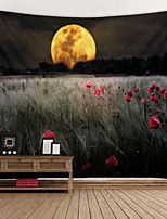 cheap -Wheat Moon Flower Digital Printed Tapestry Classic Theme Wall Decor 100% Polyester Contemporary Wall Art Wall Tapestries Decoration