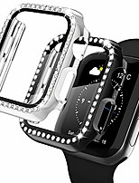 cheap -apple watch case with screen protector for apple watch 38mm series 3/2/1, 2 pack bling crystal diamond ultra-thin bumper full cover protective case for women girls iwatch black/silver