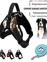 cheap -dog harness no pull pet harness 3m reflective adjustable outdoor pet vest for dogs, pet harness for small medium large dogs with dog rope