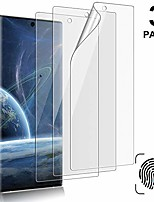 cheap -[3-pack] galaxy note 10 screen protector, compatible fingerprint, self healing, anti-bubble,ultra-thin clear hd tpu protective film, for samsung galaxy note 10