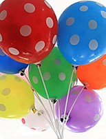 cheap -50 ct 12 inches polka dot balloons assorted color 12 inch helium quality latex inflatable for festival party decoration happy birthday home decor air balls (multicolor)