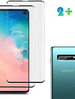 cheap -[2 pack] galaxy s10 screen protector tempered glass include a camera lens protector,glass screen protector with 9h hardness anti-fingerprint for samsung galaxy s10 (clear)