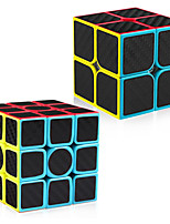 cheap -Speed Cube Set 2 pcs Magic Cube IQ Cube Carbon Fiber 2*2*2 3*3*3 Speedcubing Bundle 3D Puzzle Cube Stress Reliever Puzzle Cube Stickerless Smooth Office Desk Toys Kid's Adults Toy Gift