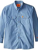 cheap -men's denim shirt, antique blue, 3x