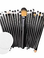 cheap -❤️ sunbona ❤️ clearance sale makeup brush 20pcs/set makeup brush set tools make-up toiletry kit wool make up brush set (black)