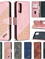 cheap -Case For Samsung Galaxy A21S Galax S20 Ultra Galaxy S20 Wallet Card Holder with Stand Full Body Cases Colorblock Crocodile Pattern PU Leather TPU for Samsung Galax A41 Note 20 Ultra A51 A71 A31