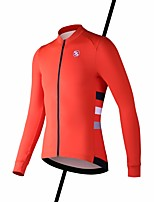 cheap -SPAKCT Men's Long Sleeve Cycling Jersey Summer Orange Dark Navy Bike Jersey Mountain Bike MTB Road Bike Cycling Quick Dry Sports Clothing Apparel / High Elasticity