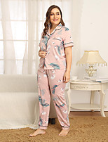 cheap -Women's Home Polyester Loungewear Floral / Botanical S Blushing Pink