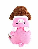 cheap -puppy hoodie cartoon pig warm thick cotton coat pet dog clothes hooded jacket velvet pullover for small doggie cat apparel (pink, xs)