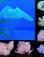cheap -3pcs Sucker Coral Aquarium Artificial Coral Silicone Plant With Sucker Ornament Water Landscape Decor Fish Tank