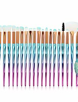 cheap -21pcs makeup brush set tools make-up toiletry kit wool make up brush set,make up tool make up brushes makeup tool eyeshadow brushes eyeshadow brush face powder blush makeup brushes (blue)