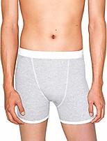 cheap -men's baby rib boxer brief, heather grey, medium