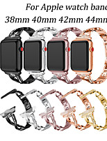 cheap -Woman For apple watch strap series 6 5 4 3 2 1 diamond bracelet 44mm 42mm 40mm 38mm apple watch stainless steel band