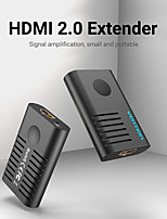 cheap -Vention HDMI Extender HDMI 2.0 Female to Female Repeater up to 10m 50m 60m Signal Booster Active 4K@60Hz HDMI to HDMI Connector