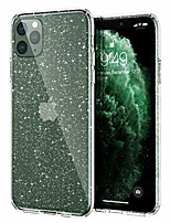 cheap -glitter iphone 11 pro case, hard back with soft tpu bumper, [military grade protection] with air bag, slim shiny clear bling case for iphone 11 pro 5.8 inch 2019, glitter crystal