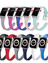 cheap -Silicone Strap For Apple Watch band 38mm 42mm Slim Rubber smartwatch wristband Sport bracelet iWatch serie 5 4 3 se 6 40mm 44mm