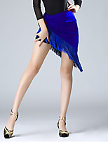 cheap -Latin Dance Skirts Tassel Women's Performance Daily Wear High Milk Fiber