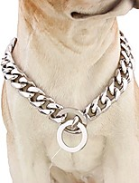 cheap -10/12/15/17/19mm strong curb cuban link 316l stainless steel dog choke chain collar 12-36inch(14inches,15mm)