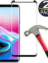cheap -galaxy s9 screen protector, [2 pack] keklle full coverage scratch-resistant anti-fingerprint with black edge 3d curved tempered glass film suitable for samsung s9