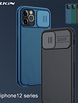 cheap -Nillkin Case For iPhone 12 / iPhone 12 Pro Max / iPhone 12 Pro / 12 Mini Shockproof / Ultra-thin / Frosted Back Cover Lines / Waves / Solid Colored TPU / PC / Camera Slide Protection / Branded