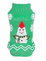 cheap -pet christmas costumes dog snowman sweaters knitwear outerwear festive dog sweater green
