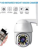 Недорогие -1080p облачное хранилище беспроводная ip-камера ptz 4-кратный цифровой зум скорость купольная камера открытый wifi аудио p2p видеонаблюдение
