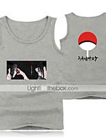 cheap -Inspired by Naruto Cosplay Akatsuki Uchiha Itachi Cosplay Costume Vest Polyester / Cotton Blend Print Printing Vest For Men's / Women's
