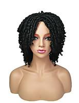 cheap -Dreadlocks / Faux Locs Ombre Crochet Middle Part Braid Wig Short Black / Strawberry Blonde Ombre Black / Medium Auburn Black / Burgundy Strawberry Blonde / Light Blonde Black Synthetic Hair Women's