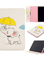 cheap -Case For Apple iPad Pro (2020) 11'' iPad 7 (2019) 10.2'' iPad Air 3 (2019) 10.5'' Wallet Card Holder with Stand Umbrella Elephant PU Leather TPU for iPad 5 (2017) 9.7'' iPad 6 (2018) 9.7