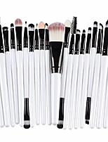 cheap -brush set 20 pcs make-up toiletry kits fashion make up concealer beauty tool (white, l)