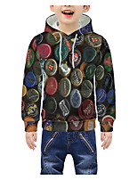 cheap -Kids Boys' Active 3D Graphic Print Long Sleeve Hoodie & Sweatshirt Rainbow
