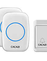 cheap -CACAZI A10G Self-Powered Wireless Waterproof Doorbell No Battery Button Home Cordless Door bells 38 Chime 4 Volume Black