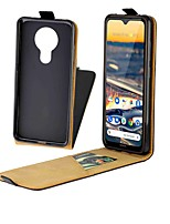 cheap -Case For Nokia C1 Card Holder with Stand Magnetic Full Body Cases Solid Colored Genuine Leather Case For Nokia 1.3 Nokia 5.3 Nokia 2.3 Nokia 7.2 Nokia 2.2 Nokia 4.2 Nokia 1 Plus Nokia 3.2 Nokia X71